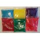 60 zakjes Holi Phagwa kleurenpoeder van 100 gram, Pakket 60 zakjes, 10x 6 kleuren