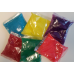20 zakjes kleurpoeder in 5 kleuren poederverf