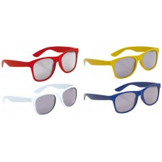 Sportieve colorrun kinder zonnebrillen - 12 st.